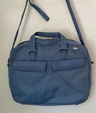 Tumi Blue Ballistic Nylon & Leather Laptop Carryon Crossbody Bag