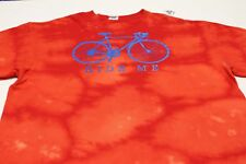 RIDE ME - CYCLING - RED TIE DYE - XL SIZE T SHIRT! WITH CALL ME LOGO ON BACK!
