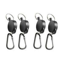 4pcs Steel Retractable Key Chain Recoil Keyring Holder Backpack Belt Clip