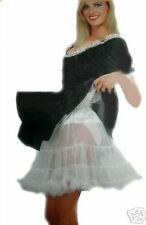 White 50s Jive Dance Retro Rock n Roll Net Tutu Petticoat Underskirt New 8 - 14