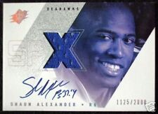 2000 Upper Deck UD SPx SHAUN ALEXANDER Auto Jersey Rookie RC SP