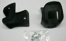 BMX freestyle BICYCLE CYCLE BIKE TOE CLIP CLIPS PLASTIC PAIR not for straps (74)