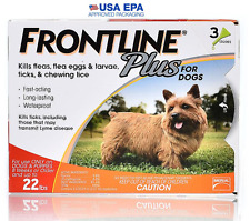 FRONTLINE PLUS FOR DOGS UNDER 22 Lbs 3 Month Supply EPA APPROVED NEW IN BOX