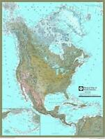 """Photo Print 24""""x31"""" Photo Poster  Physical Map  North America Wall Map"""