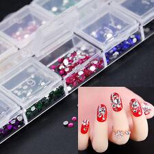 3600x Nail Art Stickers 3D Decals Crystal bling Fashion 2mm Rhinestones Gem