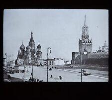 Glass Magic Lantern Slide Russia Church St Basil & Gate Kremlin Moscow GW Wilson