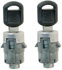 GM Door Lock Key Cylinder Barrel Tumbler Pair Set W/2 GM Small Head Keys 706592