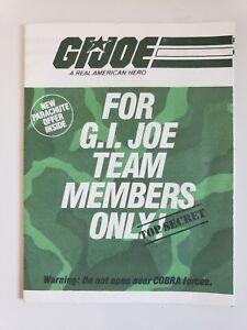 G.I. JOE A REAL AMERICAN HERO TEAM MEMBER VINTAGE MAIL-AWAY FIGURES FOLDER 1984