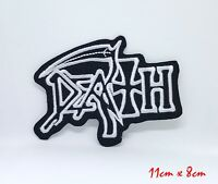Death American Metal Band Iron On Patch Embroidered Logo Heavy Rock Music #828