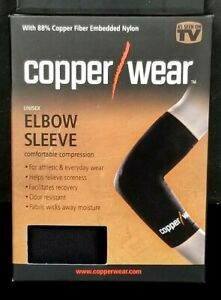 Copper Wear Compression Elbow Sleeve Unisex sz M MEDIUM NIB