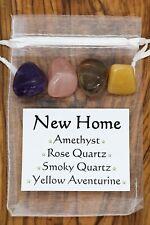 New Home Crystal Gift Set Amethyst Aventurine Rose Smoky Quartz Happy Home