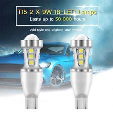 9W 1000LM T15 Canbus LED Light Reverse Bulb 6000K White 2pcs/ Set 921 912 W16W