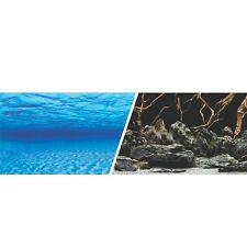 "New Seaview 18"" Waterproof Aquarium Background 2 Sided Seascape Natural Mystic"