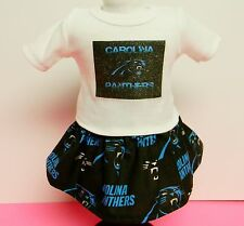 Carolina Panthers Theme Outfit For 18 Inch Doll