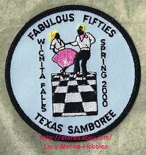 LMH PATCH Badge 2000 GOOD SAM CLUB SAMBOREE Wichita Falls FABULOUS FIFTIES Event