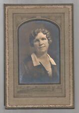 Vintage Sepia PHOTO Woman Posing for Portrait McCracken Studio Fargo
