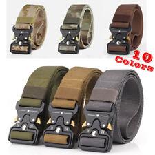 "Metal Nylon Men Tactical Buckle Waist Belt Military Strap Sport Belt 49x1.49"""
