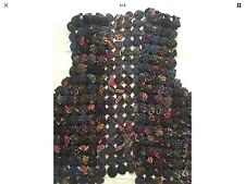 JOLI GILET FEMME PATCHWORK STYLE PEACE AND LOVE, TAILLE 38