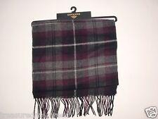 Dockers Acrylic Knit Plaid Scarf  ~ Burgandy Plaid ~ New With Tags