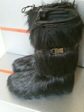 Prada Black Faux Fur Snow Boots Bnib Size UK 8 / 41 Euro Rrp £800