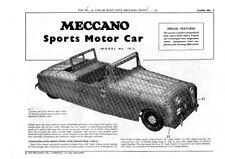 Meccano Modelo plan 10.2 Coche Deportivo