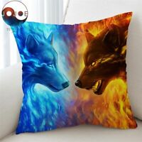 Jojoesart Cushion Cover 3D Printed Pillow Case Animal Wolf Wolves Throw Cover