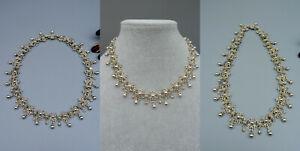 CCWX Antik Trachten Schmuck Halskette Collier 835 Silber floral verziert 67,9g