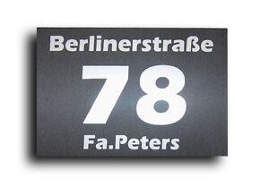 Hausnummer Hausnummern im Edelstahl Look Hausnummernschild mit Wunschnummer AL
