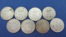 Niederlande Silber Lot 8 x 1 Gulden Juliana  keine doppelt in ss bis vz+ (4327)