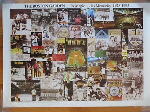 BOSTON GARDEN 1928-88 Poster ORR BIRD HAGLER PRESLEY KENNEDY AUTRY GRATEFUL DEAD