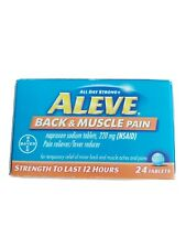 Aleve Back & Muscle Pain Reliever/Fever Reducer Naproxen Sodium Tablets, 220 mg,