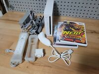 Nintendo Wii Console (RVL-001) Plays Gamecube w/ 1 controller, 3 games, all wire
