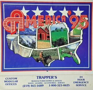 Trappers Northwest Indiana 1995 Local Business America Nature Landscape Calendar