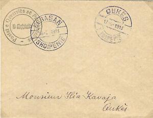 ALBANIA 1913 Cat. Gimjani No: 2, 1 Pia Cover used CERTIFIED
