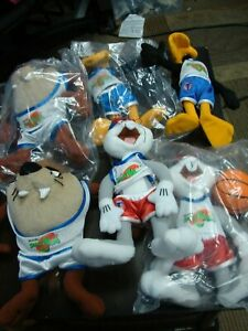 Looney Tunes Space Jam Plush Stuffed Animal Lot  of 6