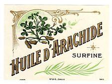 LABEL FRENCH PEANUT OIL HUILE ARACHIDE SURFINE