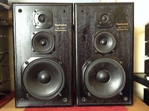 Technics SB-CS9 3 Way Loudspeaker System Pair of Speakers 100 Watt