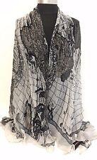 Women Summer Pareo Dress Sarong Beach Swimwear Cover Up Chiffon Scarf Wrap Grey