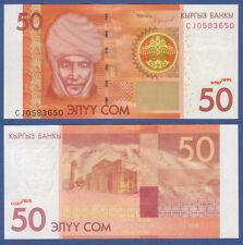 Kirghizstan/Kyrgyzstan 50 som 2016 (2017) UNC p. 25 B New
