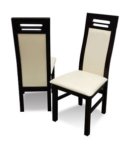 Luxury Design Pads Chair Chairs Seat Lehn Office Dining Room Wood K65 New