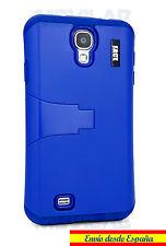 Funda Samsung I9505 / I9500 Galaxy S4 antigolpes bumper con soporte azul