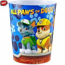 Nickelodeon Paw Patrol Rescue Crew Wastebasket Trash Can Kids Cartoon Character