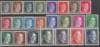 Stamp Germany Mi 781-802 Sc 506-27 1941 WWII 3rd Reich Adolf Hitler Heads Set MH