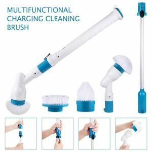 New Turbo Spin Scrub Mop Bath Cleaning Brush High Floor Scrubber Hurricane Home