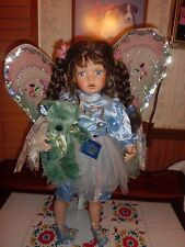 """Kathy Smith-Fitzpatrick """"Flitter"""" 26"""" tall w/stand porcelain doll cute fairy"""