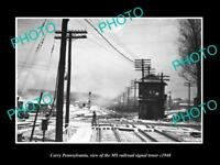 OLD 8x6 HISTORIC PHOTO OF CORRY PENNSYLVANIA THE RAILROAD SIGNAL TOWER c1940