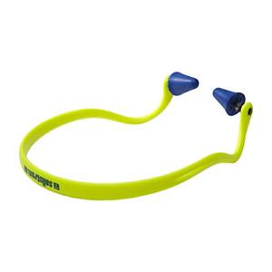 Sellstrom Reusable Banded Ear Plugs, 25dB NRR, Hi-Viz Green/Blue, S23430