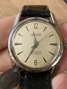 Vintage Rare 1410 Accurist Gents Watch Shockmaster 21 Jewels Manual Wind Working