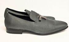 Stacy Adams Men's Tazewell Plain Toe Tassel Slip On Gray Lofer 25343-020