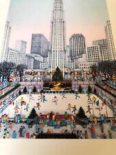 Rockefeller Center Iceskating Ring NYC Art Print